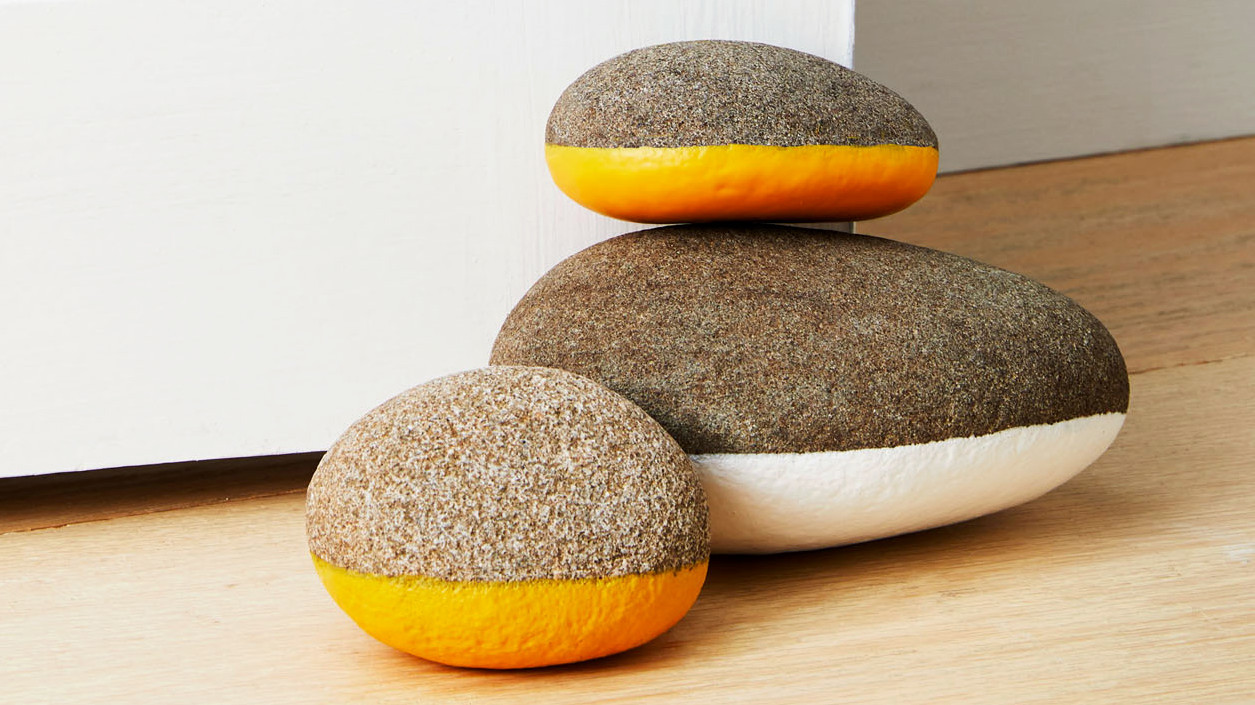 Rubber-Coated Rock Doorstop