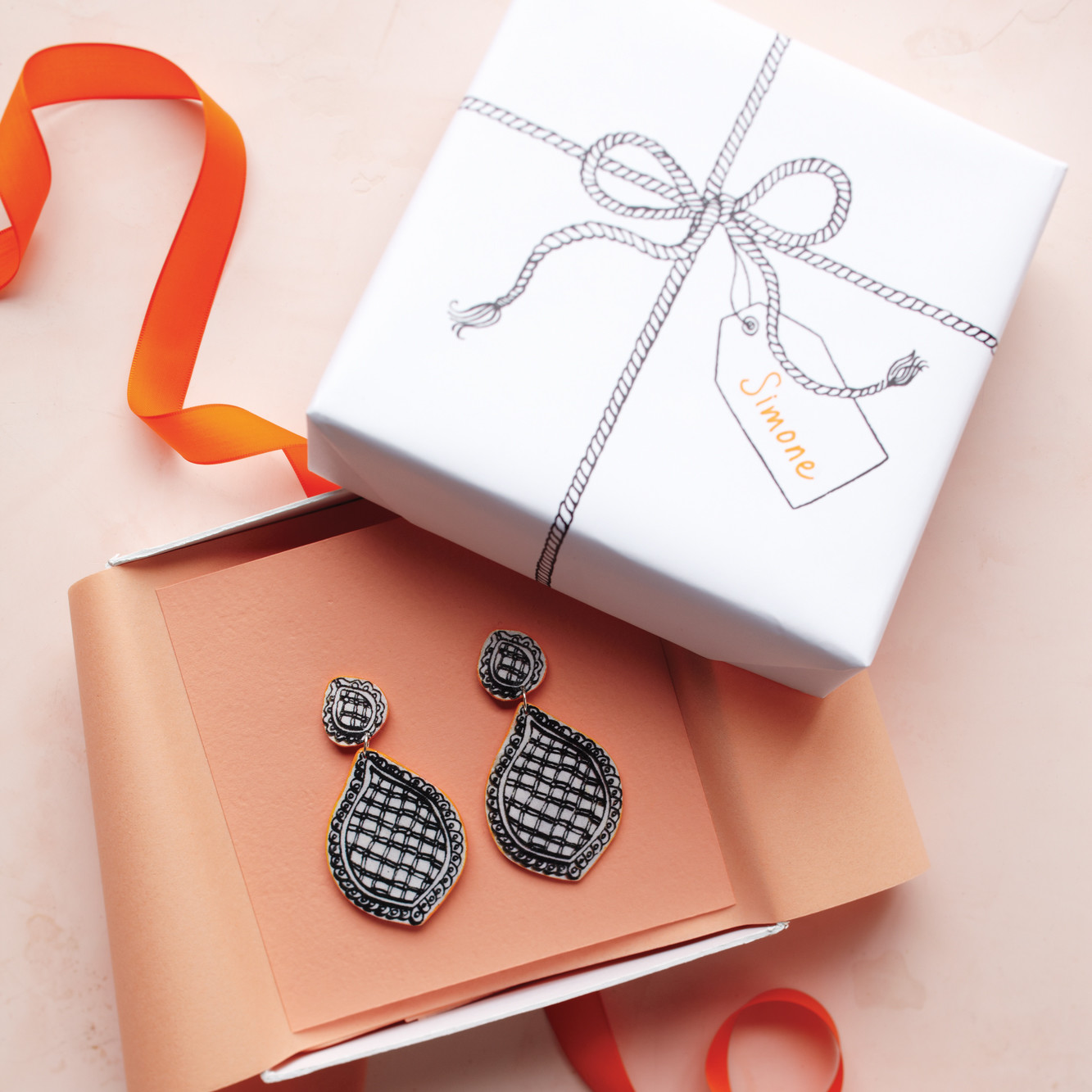 Trompe L Oeil Earrings And Gift Box Martha Stewart