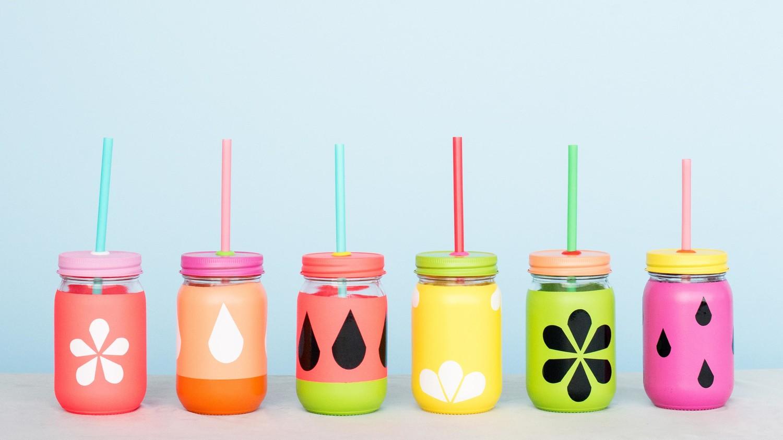 Tutti Frutti Mason Jar Cup