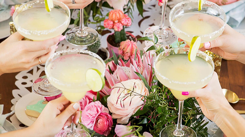 cinco de mayo floral fiesta cheers margaritas tablescape