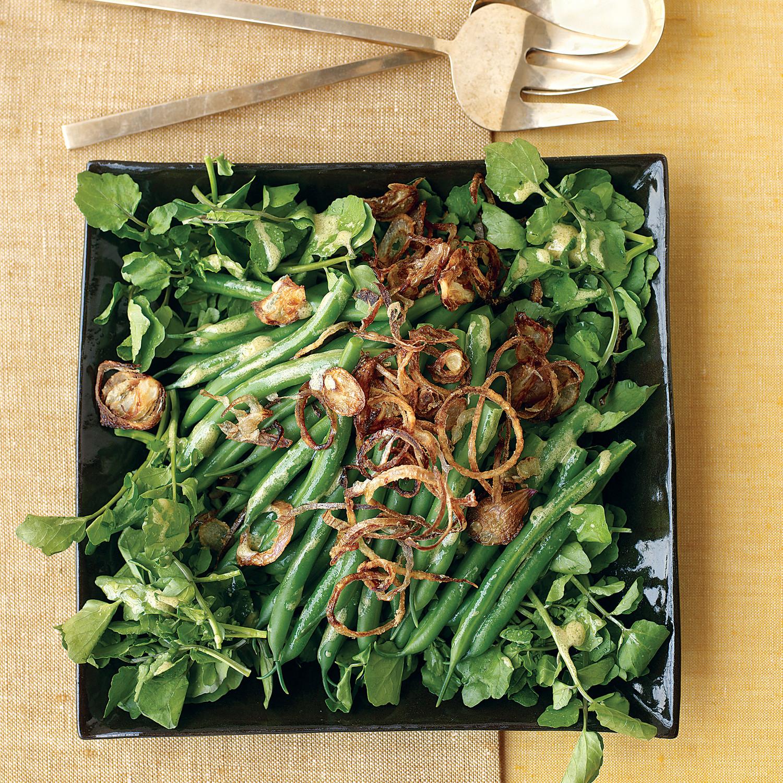 Green Bean, Watercress, and Crispy Shallot Salad