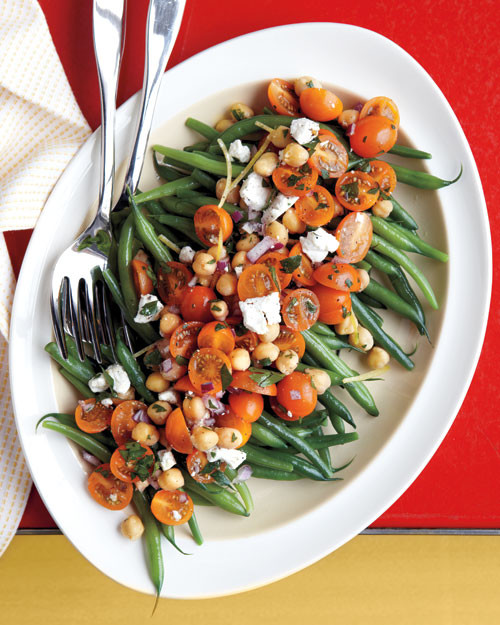 Green Bean Tomato And Chickpea Salad