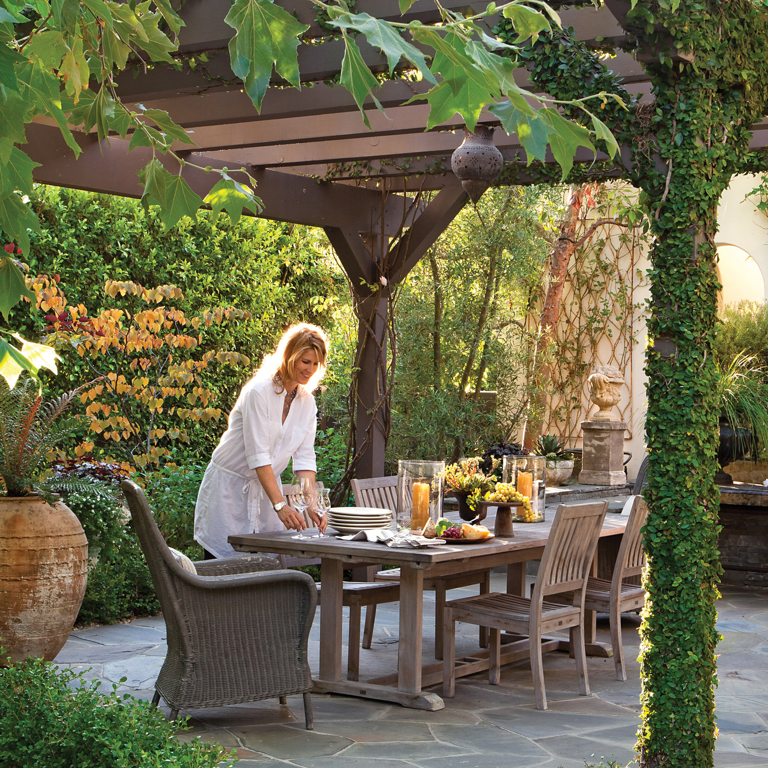 Arbor Covered Outdoor Spaces Martha Stewart