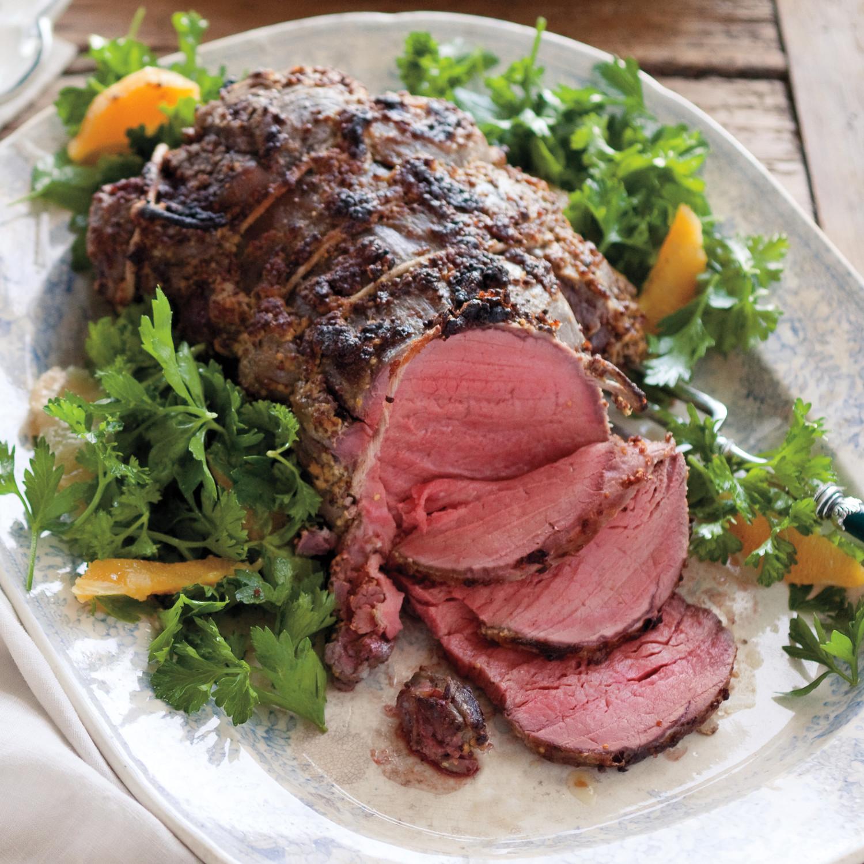 how to serve roast bef