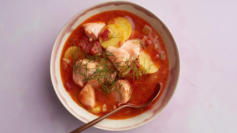 Smoky Salmon And Potato Stew