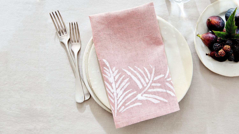 stenciled napkin