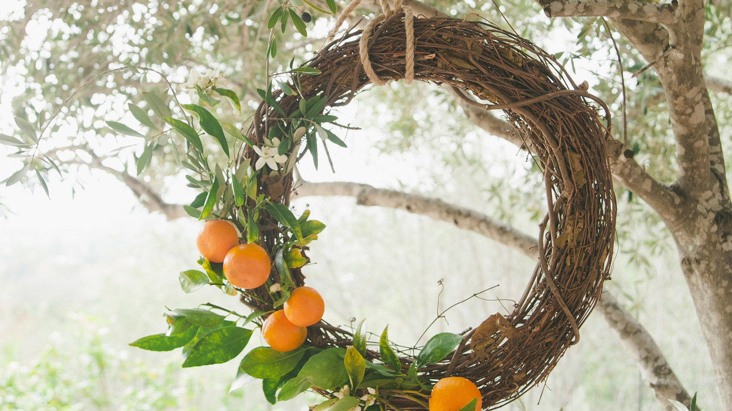 Citrus Garden Wreath