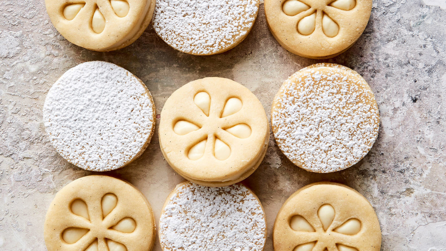 Lime Butter Cookie Wreaths