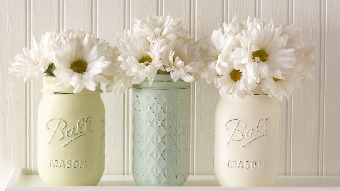 Mason Jars Turned Vintage Decor Vases Martha Stewart