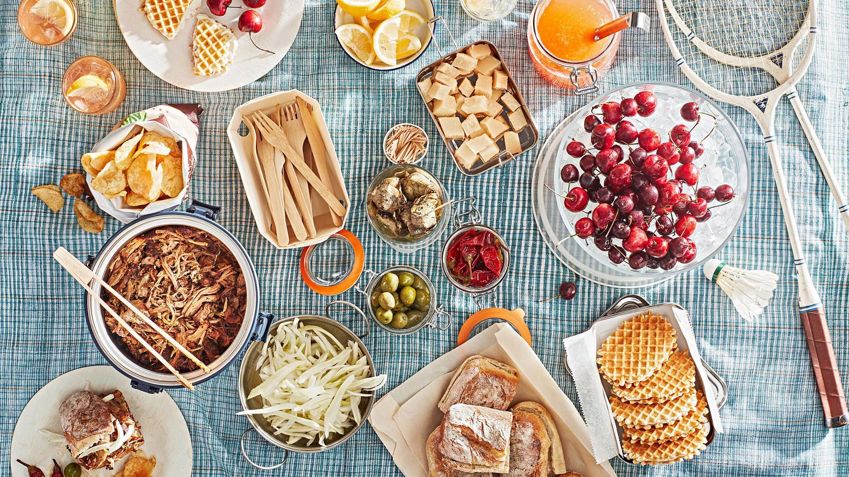 italian escape picnic spread
