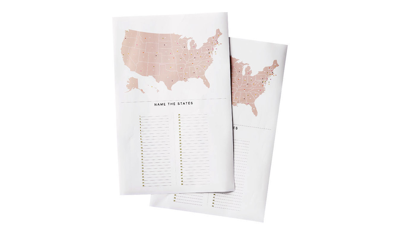 United States Map Game Puzzle.United States And Capitals Map Trivia Game Martha Stewart