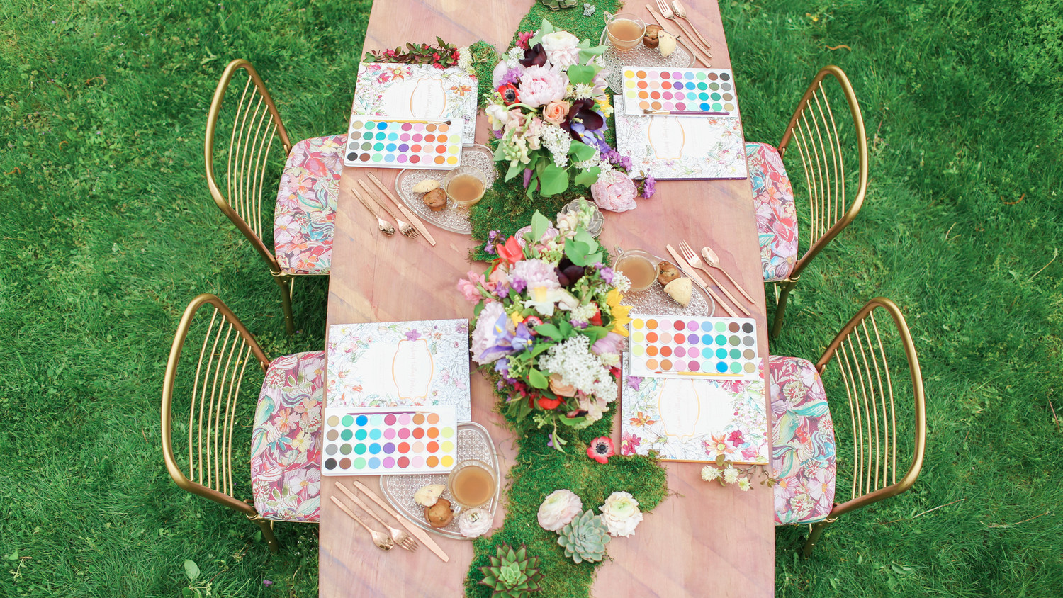Watercolor Paint Party In The Garden Martha Stewart