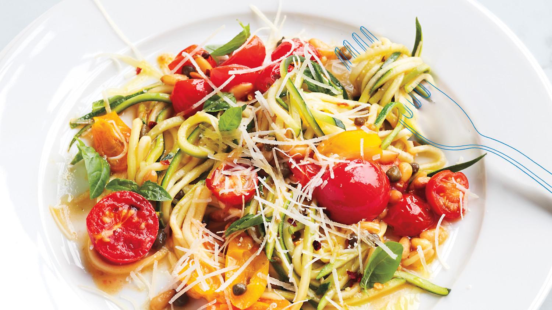 Zucchini Pasta Primavera Recipe Martha Stewart
