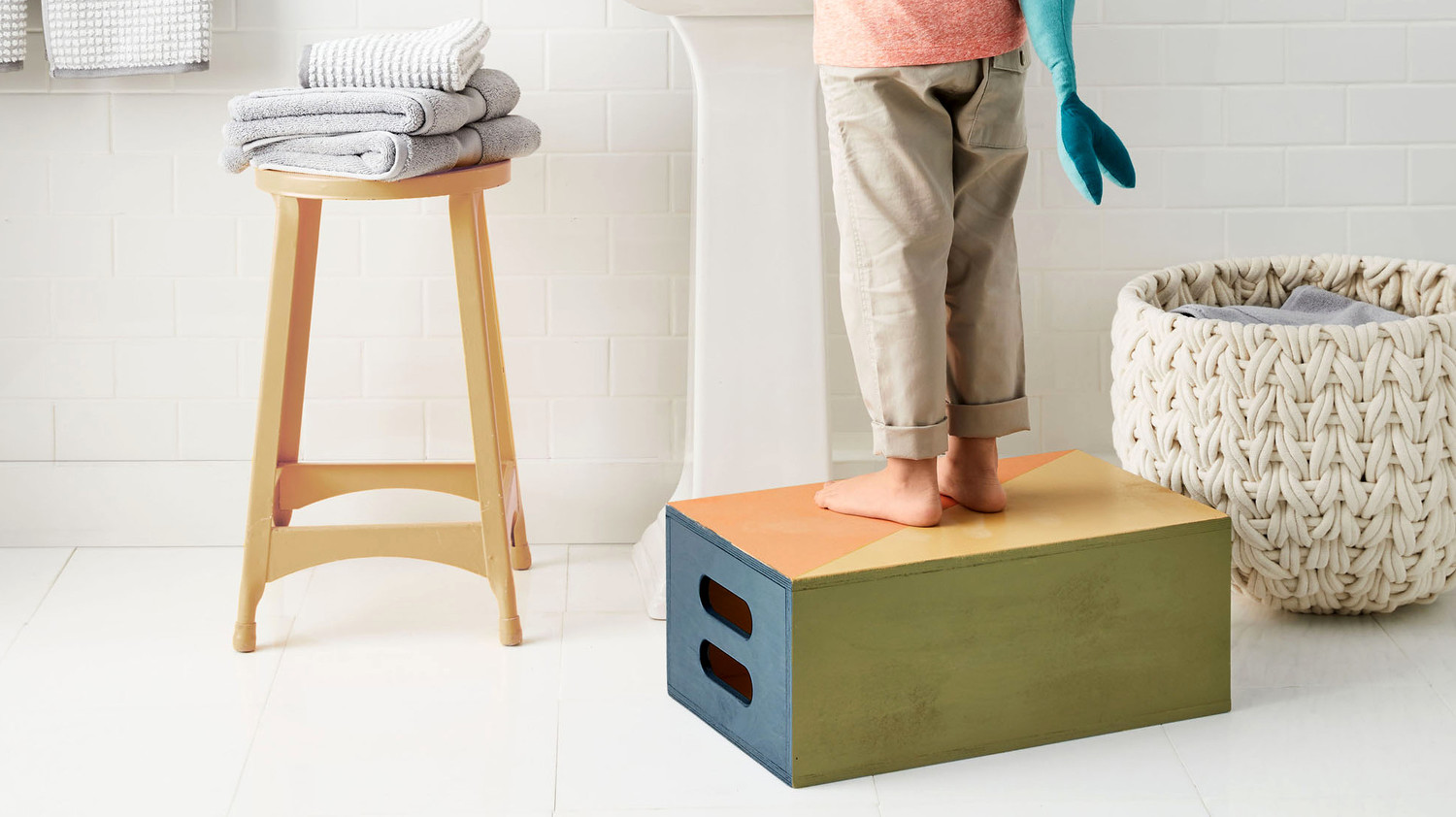 Kids' Painted Step Stool