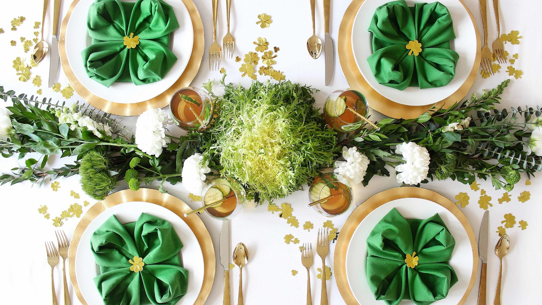 st. patricks day healthy green lunch table setting & Host a St. Patrick\u0027s Day Lunch of Healthy Greens   Martha Stewart