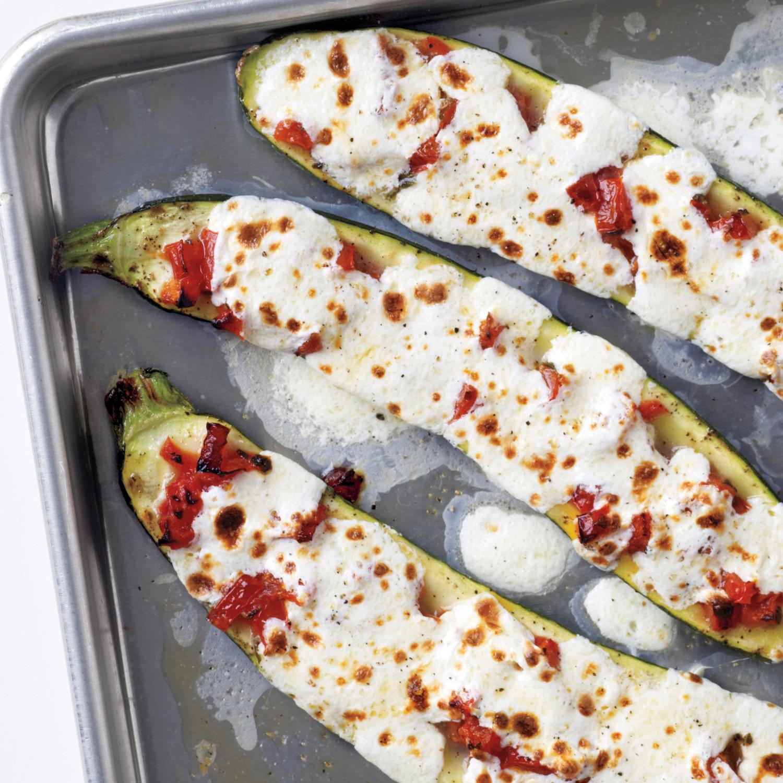Stuffed zucchini with tomatoes and mozzarella forumfinder Choice Image