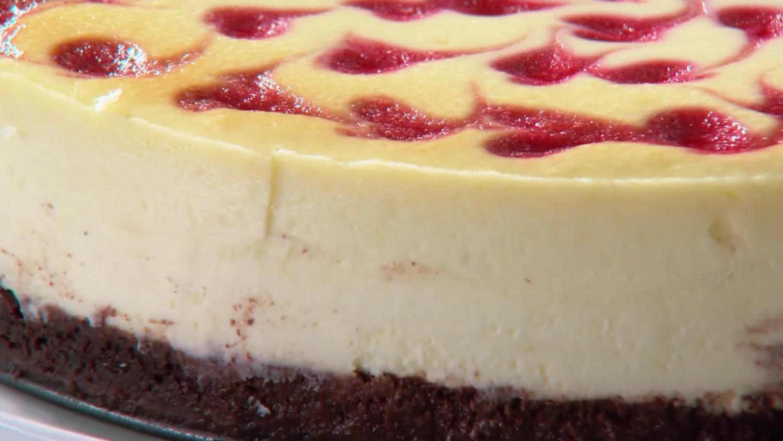 Strawberry Swirl Angel Food Cake