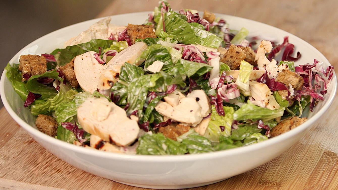 video buttermilk chicken caesar salad recipe martha stewart. Black Bedroom Furniture Sets. Home Design Ideas
