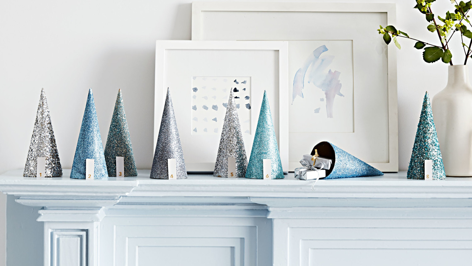 Glittered Cone Advent Calendar