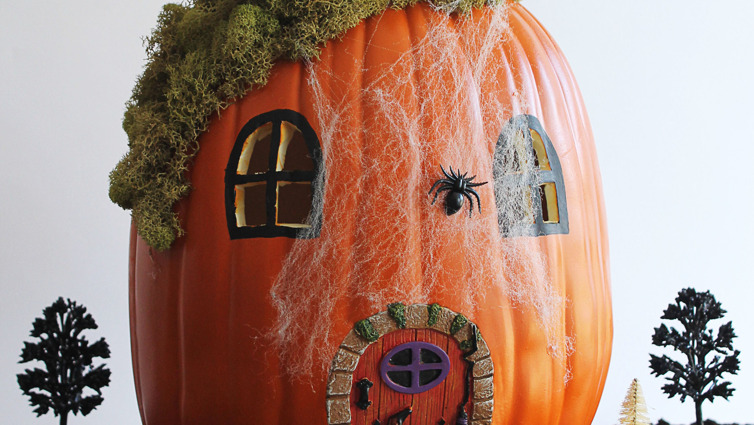 Halloween Fairy Garden Pumpkin
