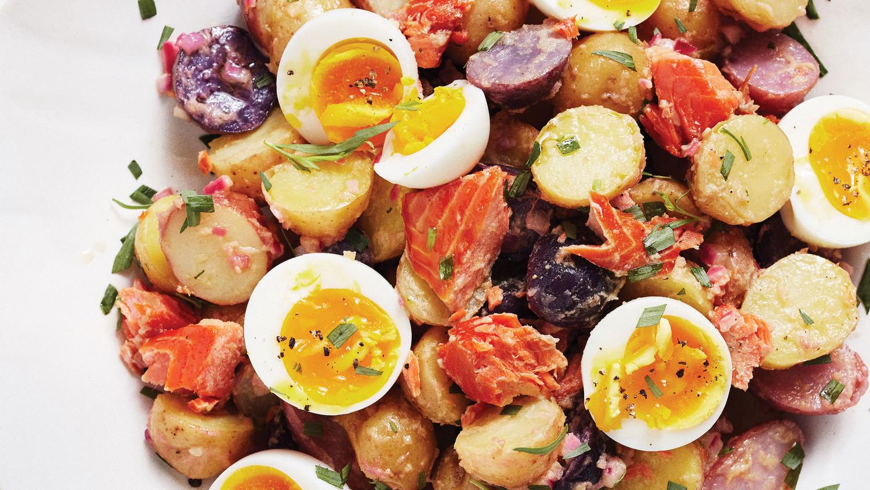 Smoked Salmon Potato Salad With Eggs And Herbs
