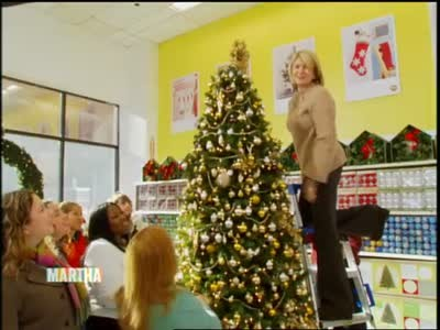 video a visit to kmart and holiday tree decor martha stewart - Kmart Christmas Tree Decorations