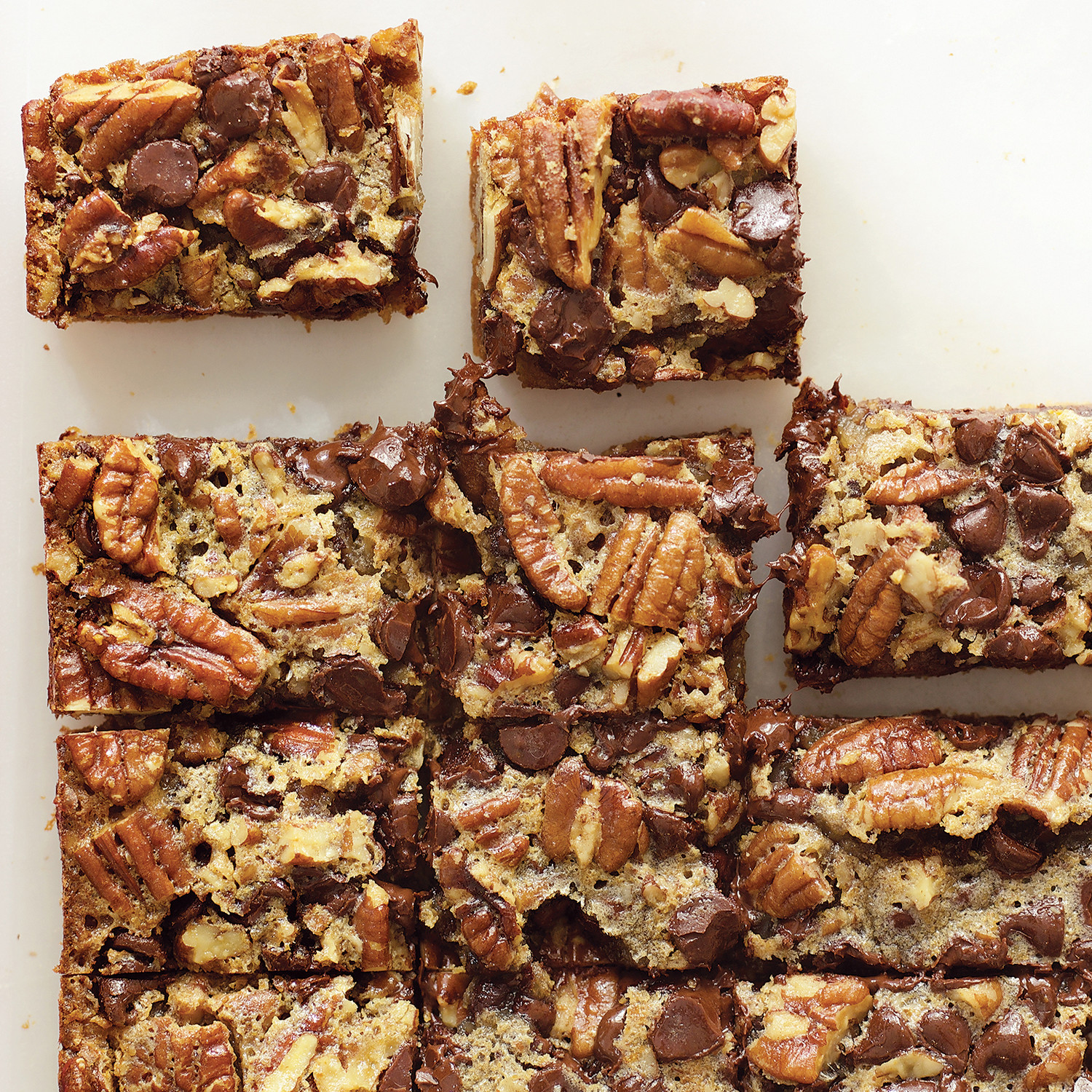 chocolaty pecan pie bars