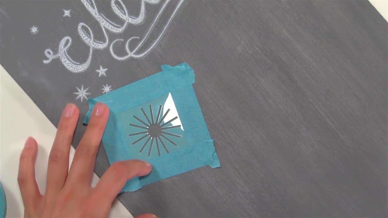 Video Create Chalkboard Art Using Craft Paint Martha