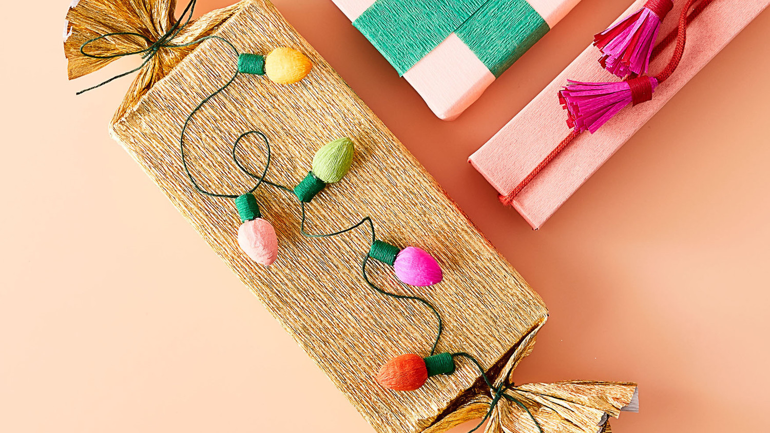 Crepe-Paper String Lights