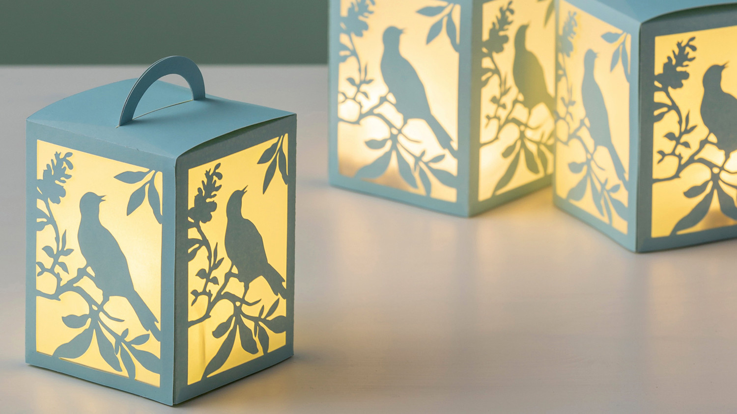 Martha Stewart Cricut® Woodland Bird Lanterns