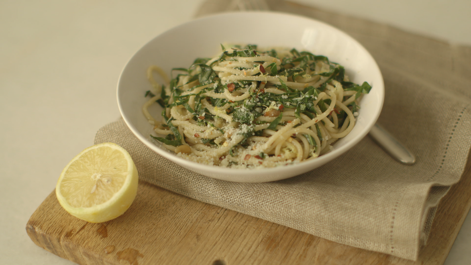 Video: Spaghetti with Collard Greens and Lemon | Martha Stewart
