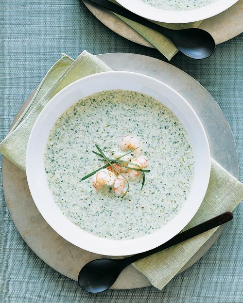 Chilled Yogurt-Spinach Soup With Shrimp Recipe