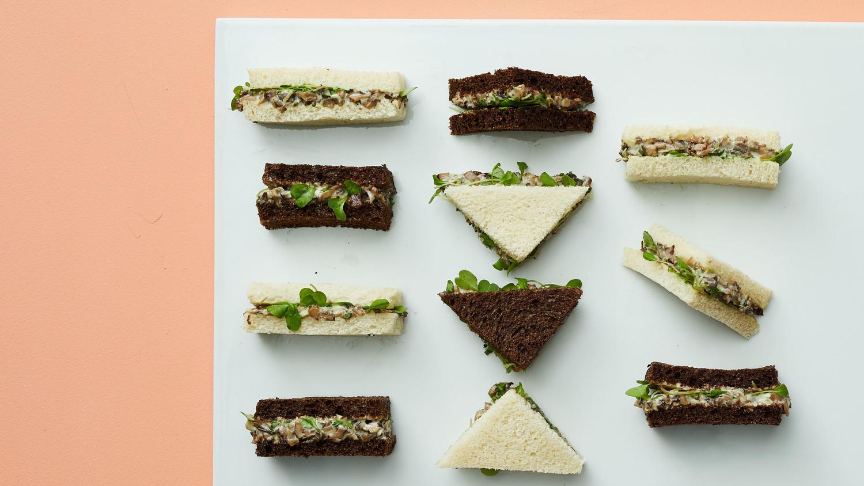 Vegan Mushroom Tea Sandwiches