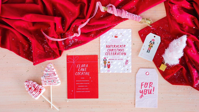 nutcracker christmas party tags programs creme pops