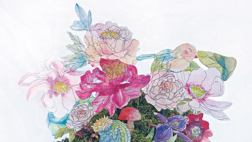 Watercolor Paper Flower Arrangement Martha Stewart