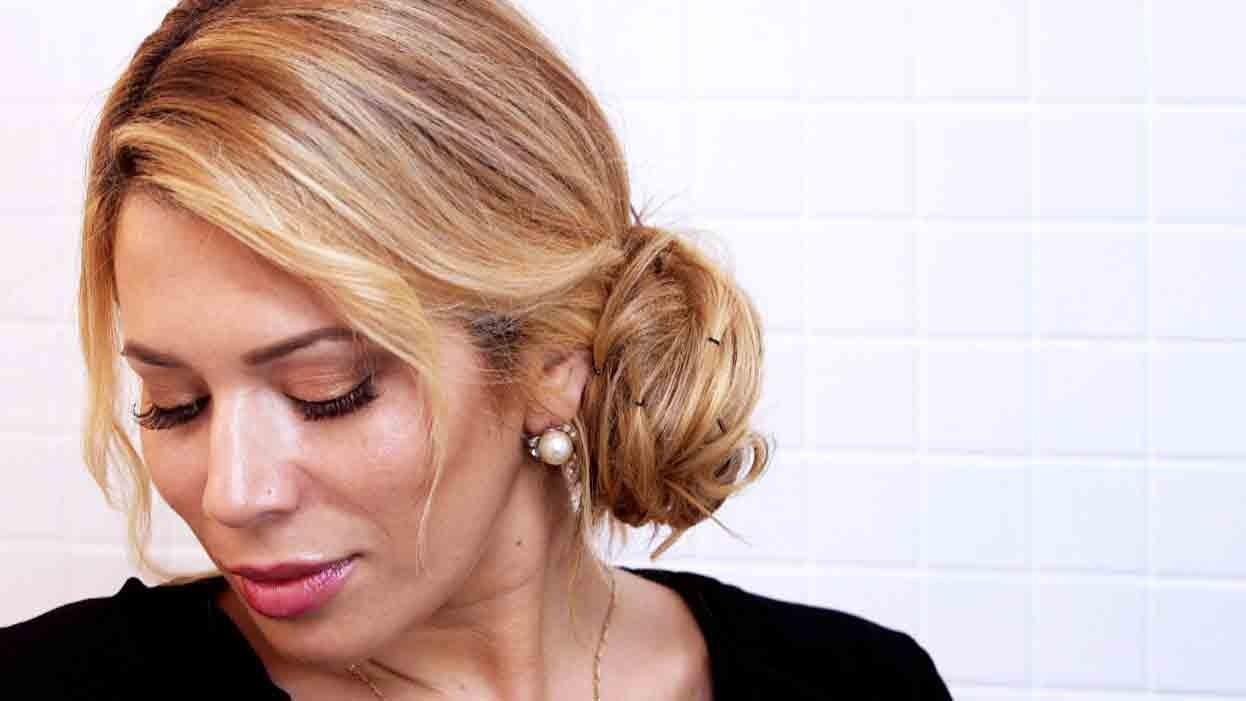 Video Chic Chignon Hairstyle In Under 5 Minutes Martha Stewart