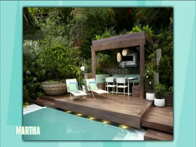 Video garden landscape designs with jamie durie martha for Jamie durie garden designs