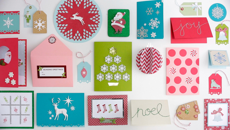 video  martha stewart crafts holiday card making