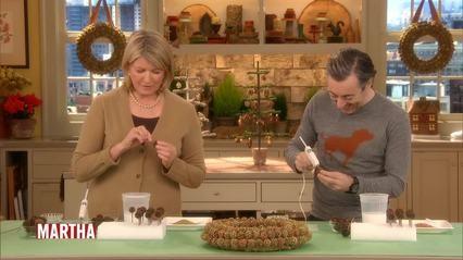 Martha Stewart Makes a SweetGum Wreath Videos TV How to