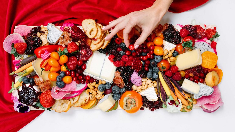 nutcracker christmas party fruit veggie cheese platter