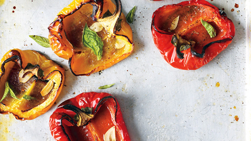 Roasted Peppers With Garlic And Herbs