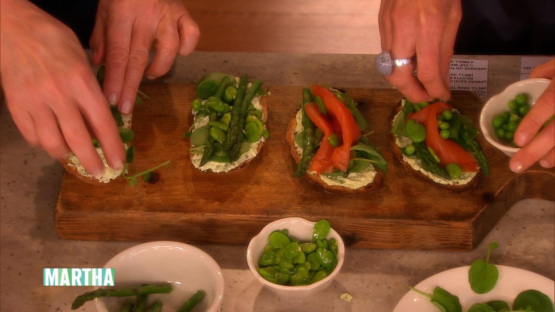 Video: Spring Veggie and Smoked Salmon Tartine | Martha Stewart