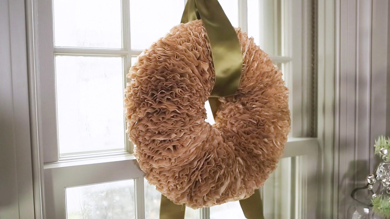 Coffee Filter Wreath & Video | Martha Stewart