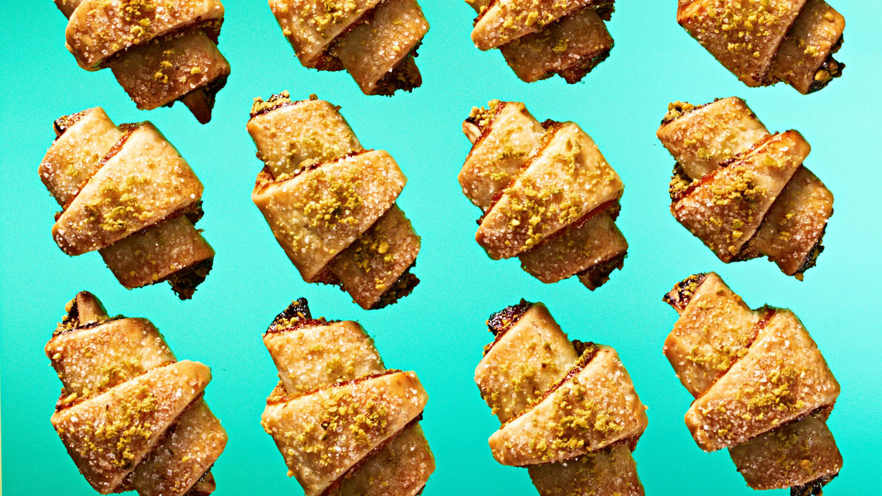 Pistachio And Dried Apricot Rugelach