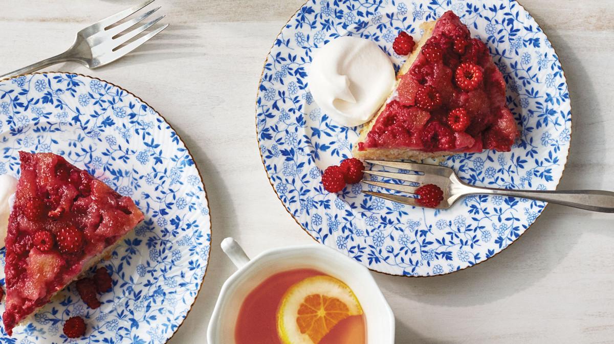 Vegetarian Cake Recipes In Pressure Cooker: Pressure-Cooker Raspberry Upside-Down Cake