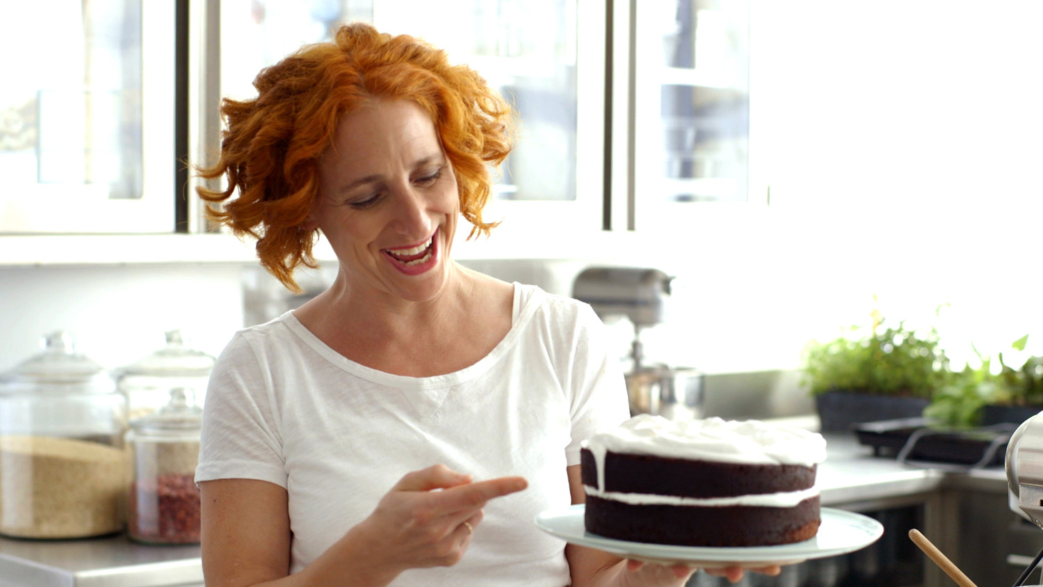 Devil's Food Cake With Fluffy Frosting Recipe — Dishmaps