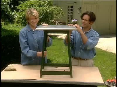 Table top covering Wood Thewiseprojectinfo Video How To Create Tabletop With Tin Covering Martha Stewart
