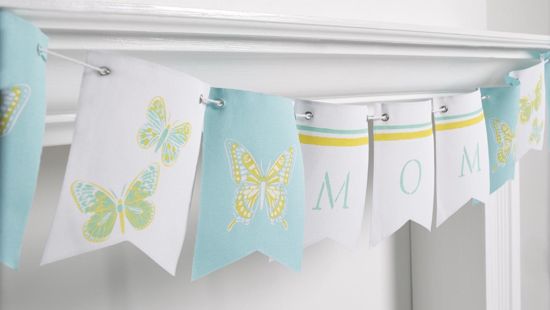 Martha Stewart's Stenciled Mother's Day Banner