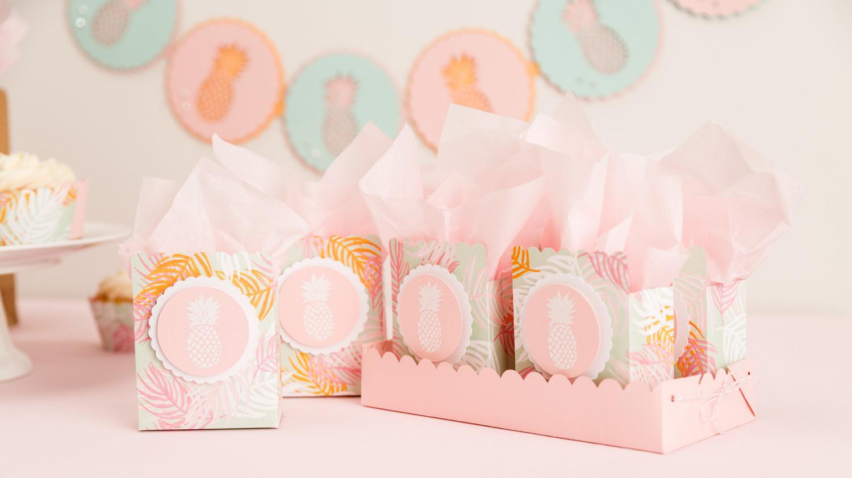 Martha Stewart Cricut® Pineapple Party Favor Bags | Martha Stewart