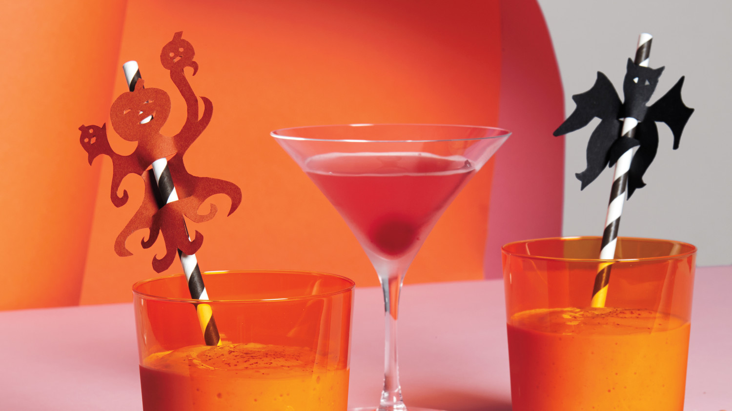 Halloween Paper Straw Toppers